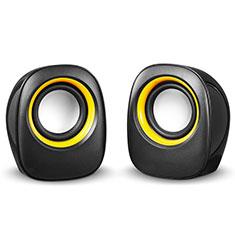 Altoparlante Casse Mini Sostegnoble Stereo Speaker S01 per Huawei Mate 30 Nero