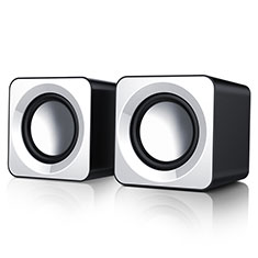 Altoparlante Casse Mini Sostegnoble Stereo Speaker W04 per Samsung Galaxy S21 Plus 5G Bianco