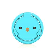 Anello Supporto Magnetico Sostegno Cellulari Universale H18 per Samsung Galaxy Note 10 5G Cielo Blu
