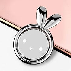 Anello Supporto Magnetico Sostegno Cellulari Universale S12 per Huawei Mate 30 Pro Argento