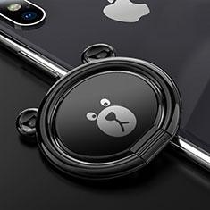 Anello Supporto Magnetico Sostegno Cellulari Universale S14 per Huawei Mate 30 Pro Nero