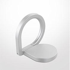 Anello Supporto Magnetico Sostegno Cellulari Universale Z08 per Huawei Mate 30 Pro Argento