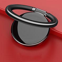 Anello Supporto Magnetico Sostegno Cellulari Universale Z09 per Huawei Mate 30 Pro Nero