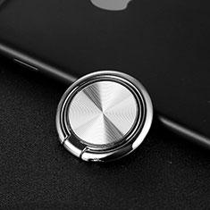 Anello Supporto Magnetico Sostegno Cellulari Universale Z11 per Huawei Mate 30 Pro Argento