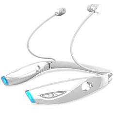 Auricolare Bluetooth Cuffia Stereo Senza Fili Sport Corsa H52 per Huawei Honor Pad 5.8.0 Bianco