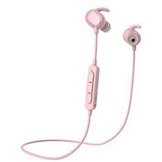 Auricolare Bluetooth Cuffie Stereo Senza Fili Sport Corsa H43 per Huawei Honor Pad 5.8.0 Rosa