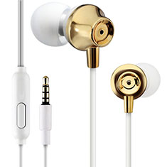Auricolari Cuffie In Ear Stereo Universali Sport Corsa H21 per Apple iPhone 11 Oro