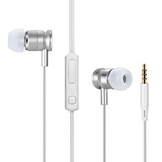 Auricolari Cuffie In Ear Stereo Universali Sport Corsa H31 per Apple iPhone 11 Argento