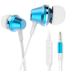 Auricolari Cuffie In Ear Stereo Universali Sport Corsa H37 per Apple iPhone 12 Pro Blu
