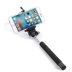Bastoni Selfie Stick Asta Estensibile Cablato Universale per Huawei Y7 Prime Nero