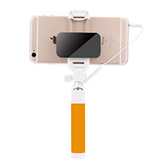 Bastoni Selfie Stick Asta Estensibile Cablato Universale S07 per Xiaomi Mi 9 Pro Giallo
