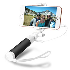 Bastoni Selfie Stick Asta Estensibile Cablato Universale S09 per Huawei Y7 Prime Nero