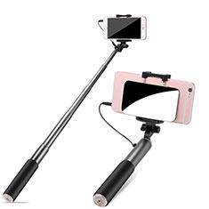 Bastoni Selfie Stick Asta Estensibile Cablato Universale S11 per Huawei Y7 Prime Grigio