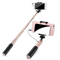 Bastoni Selfie Stick Asta Estensibile Cablato Universale S11 per Xiaomi Mi 9 Pro Oro