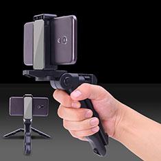 Bastoni Selfie Stick Asta Estensibile Cablato Universale S21 per Huawei Y7 Prime Nero