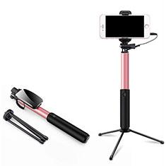 Bastoni Selfie Stick Asta Estensibile Cablato Universale T35 per Samsung Galaxy A70 Rosa