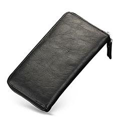 Borsetta Pochette Cover In Pelle Universale H09 per Huawei Mate 30 5G Nero