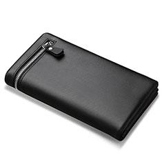 Borsetta Pochette Custodia In Pelle Universale H06 per Huawei Mate 30 5G Nero