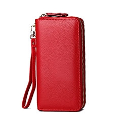 Borsetta Pochette Custodia In Pelle Universale H21 per Apple iPhone 11 Pro Rosso
