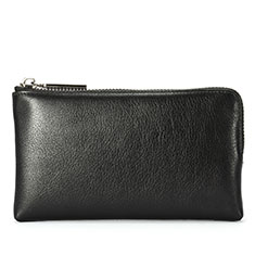 Borsetta Pochette Custodia In Pelle Universale H27 per Apple iPhone 11 Pro Nero