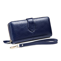Borsetta Pochette Custodia In Pelle Universale H33 per Apple iPhone 11 Pro Blu