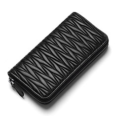 Borsetta Pochette Custodia In Pelle Universale H35 per Apple iPhone 11 Pro Nero