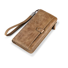 Borsetta Pochette Custodia In Pelle Universale K06 per Apple iPhone 11 Pro Marrone