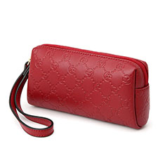 Borsetta Pochette Custodia In Pelle Universale K11 per Apple iPhone 11 Pro Rosso