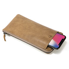 Borsetta Pochette Custodia In Pelle Universale K17 per Apple iPhone 12 Pro Arancione