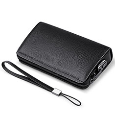 Borsetta Pochette Custodia In Pelle Universale K19 per Apple iPhone 8 Nero