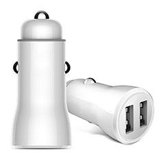 Caricabatteria da Auto Doppia Porta Adattatore 2.4A Universale per Huawei Mate 30 Bianco