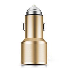 Caricabatteria da Auto Doppia Porta Adattatore 3.0A Universale K01 per Samsung Galaxy M21s Oro