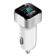 Caricabatteria da Auto Doppia Porta Adattatore 3.1A Universale per Samsung Galaxy M21s Bianco