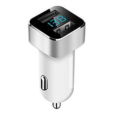 Caricabatteria da Auto Doppia Porta Adattatore 3.1A Universale per Xiaomi Mi 10 Ultra Bianco