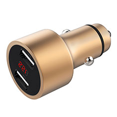 Caricabatteria da Auto Doppia Porta Adattatore 3.1A Universale per Huawei Mate 30 5G Oro