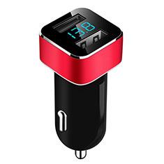 Caricabatteria da Auto Doppia Porta Adattatore 3.1A Universale per Xiaomi Mi 9 Pro Rosso