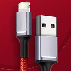 Cavo da USB a Cavetto Ricarica Carica C03 per Apple iPhone 11 Pro Max Rosso