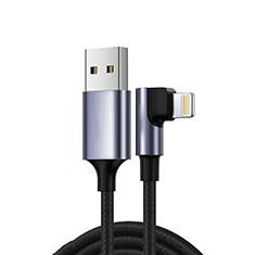 Cavo da USB a Cavetto Ricarica Carica C10 per Apple iPad Pro 12.9 (2020) Nero