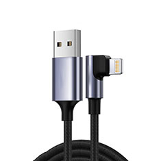 Cavo da USB a Cavetto Ricarica Carica C10 per Apple iPhone 11 Pro Max Nero