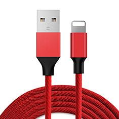 Cavo da USB a Cavetto Ricarica Carica D03 per Apple iPad 10.2 (2020) Rosso