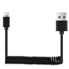 Cavo da USB a Cavetto Ricarica Carica D08 per Apple iPhone 12 Pro Nero