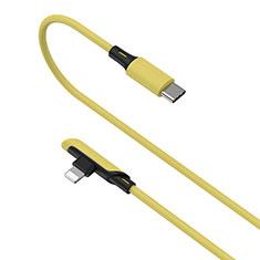 Cavo da USB a Cavetto Ricarica Carica D10 per Apple iPhone 11 Pro Giallo