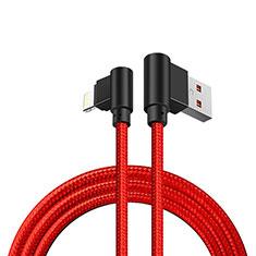 Cavo da USB a Cavetto Ricarica Carica D15 per Apple iPhone 11 Pro Rosso