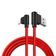 Cavo da USB a Cavetto Ricarica Carica D15 per Apple iPhone 11 Rosso