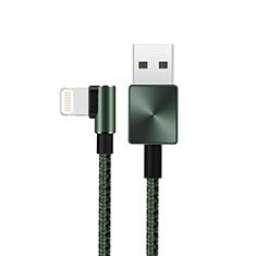 Cavo da USB a Cavetto Ricarica Carica D19 per Apple iPad 10.2 (2020) Verde