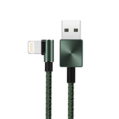 Cavo da USB a Cavetto Ricarica Carica D19 per Apple iPhone 11 Pro Verde
