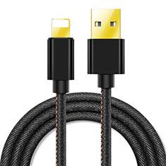 Cavo da USB a Cavetto Ricarica Carica L04 per Apple iPad Pro 12.9 (2020) Nero