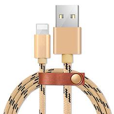 Cavo da USB a Cavetto Ricarica Carica L05 per Apple iPad Pro 12.9 (2020) Oro