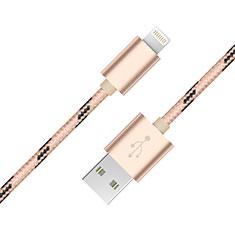 Cavo da USB a Cavetto Ricarica Carica L10 per Apple iPhone 12 Pro Oro