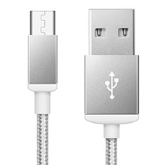 Cavo USB 2.0 Android Universale A02 per Huawei Mate 30 Pro 5G Argento
